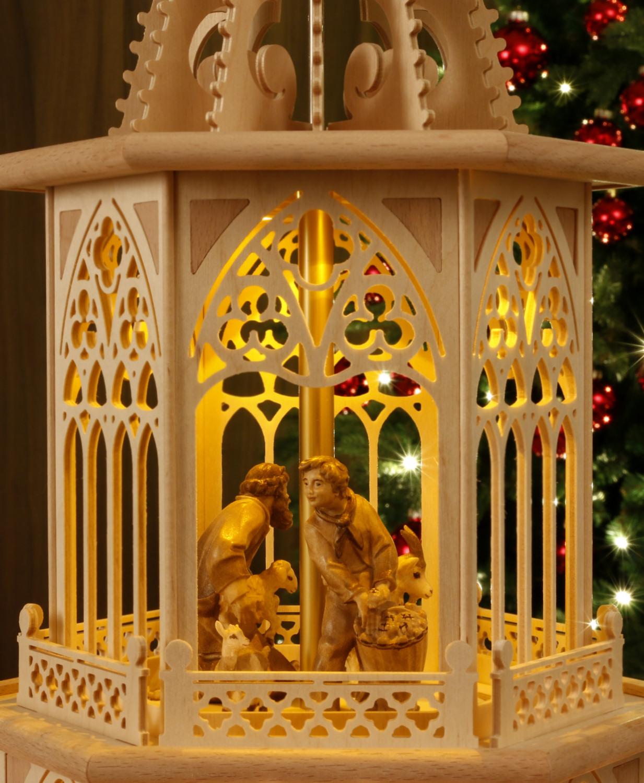 tilgner weihnachtspyramide 83 cm krippenfiguren s dtirol teelicht kerze ebay. Black Bedroom Furniture Sets. Home Design Ideas