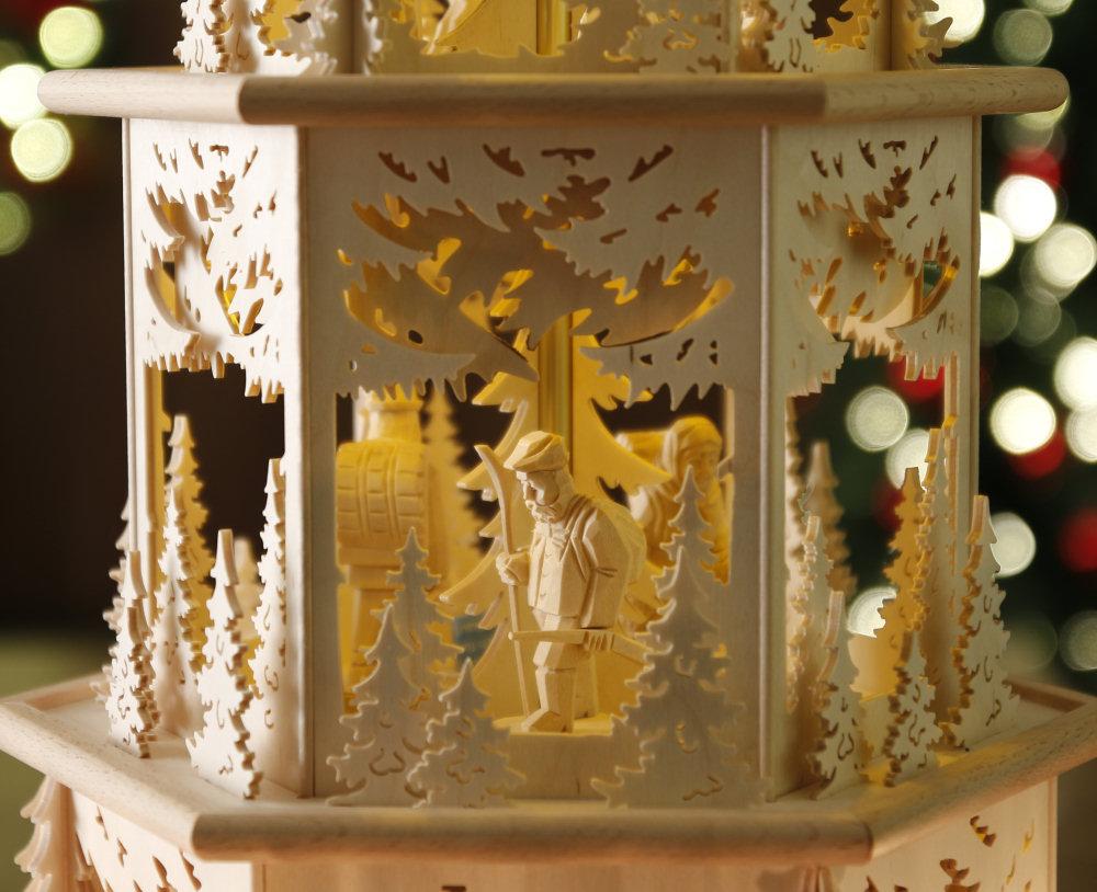 original weihnachtspyramiden aus dem erzgebirge kategorie mit teelichten waldmotiv. Black Bedroom Furniture Sets. Home Design Ideas