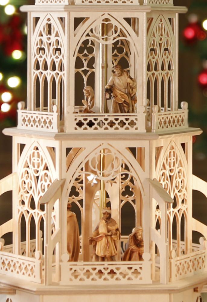 gotische weihnachtspyramide original aus dem erzgebirge. Black Bedroom Furniture Sets. Home Design Ideas