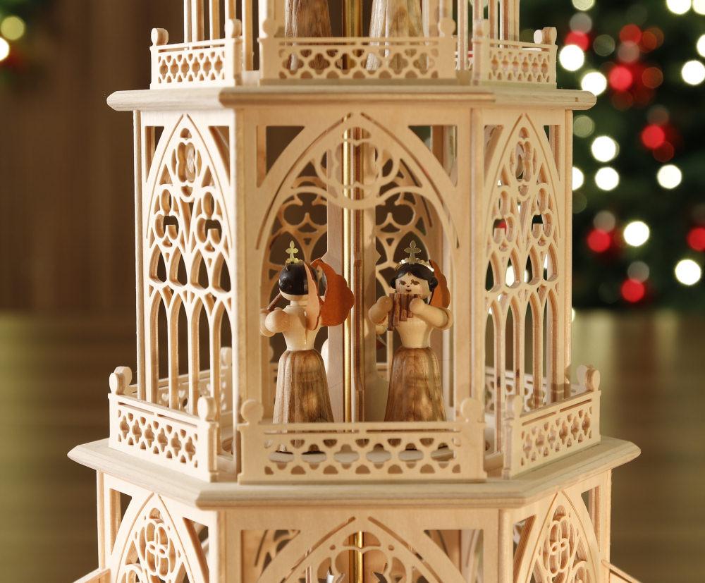 original weihnachtspyramiden aus dem erzgebirge teelicht pyramide engel. Black Bedroom Furniture Sets. Home Design Ideas